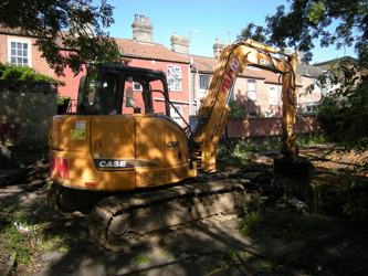 Grapes Hill Community Garden - The tarmac is removed