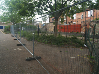 Grapes Hill Community Garden - Site is fenced off so work can begin