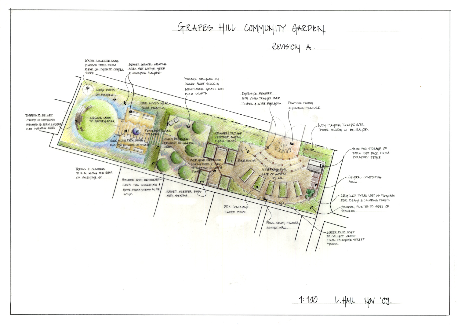Grapes hill community garden initial sketch of the garden for Garden design blueprint